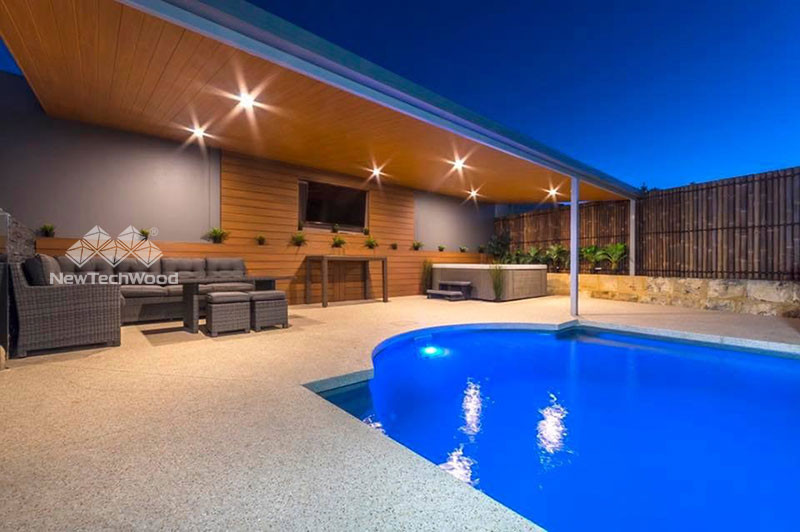 Poolside residential cladding