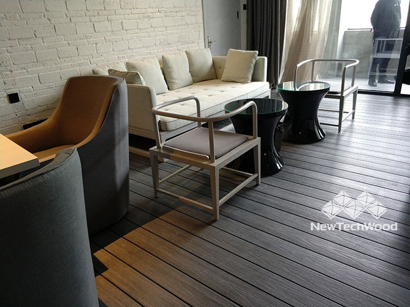Indoor decorative decking by NewTechWood