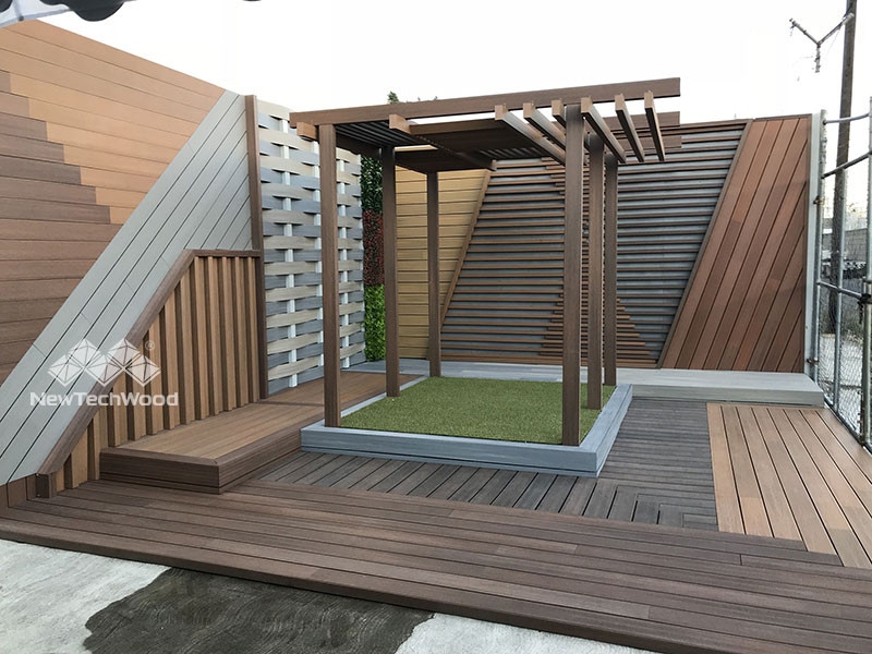 A NewTechWood  outdoor showroom in South America